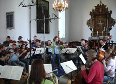 Marianne Thorsen and TrondheimSolistene during recording sessions for MOZART (2L38SACD).